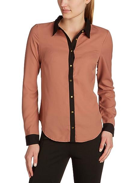 Vero Moda - Blusa de manga larga para mujer, talla 36, color rosa (