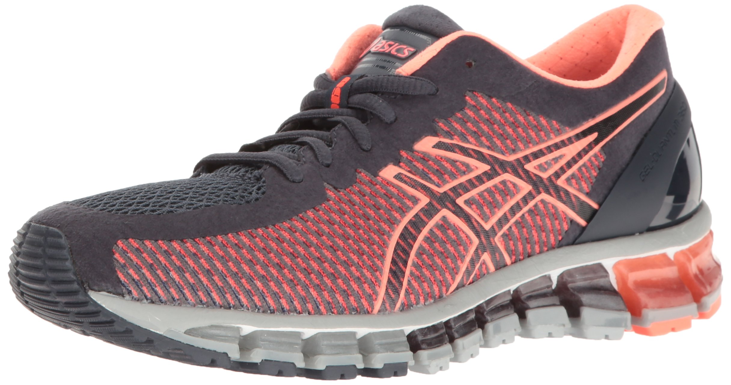 ASICS Women's Gel-Quantum 360 cm Running Shoe, India Ink/Flash Coral/Mid Grey, 9 M US by ASICS (Image #1)