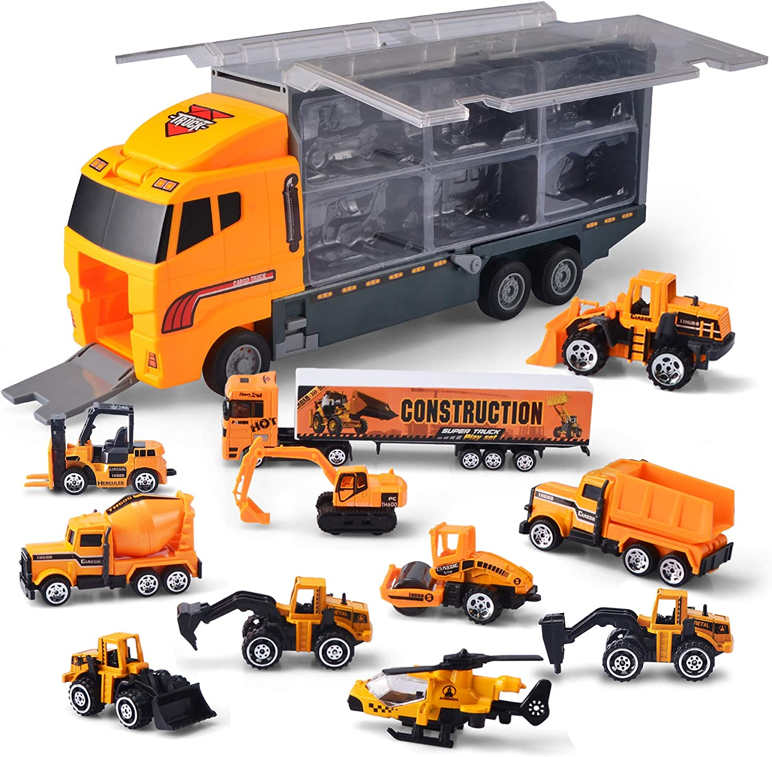 Jouet camion transport Carrycase remorque voiture collection Carrier Case Cars Playset