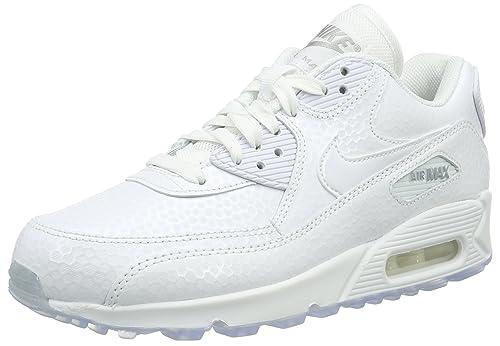 online store 819c9 b978a Nike Nike Wmns Air MAX 90 Premium - Zapatillas de Piel para Mujer, Color  Blanco, Talla 38 Amazon.es Zapatos y complementos