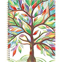 """2020 Planner - Weekly & Monthly Planner with Marked Tabs, 8.5"""" x 11"""", Hardcover with Thick Paper + Contacts + Calendar + Holidays, Jan. - Dec. 2020, Twin-Wire Binding - Watercolor Tree"""