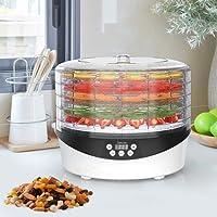 Dörrautomat BPA frei, Sancusto Dörrgerät für Obst, Gemüse und Fleisch, Selbstabschaltung, mit 72 Stunden-Timer und Thermostat Einstellbar 35 ° C-70 ° C, 500W, 5 Etagen