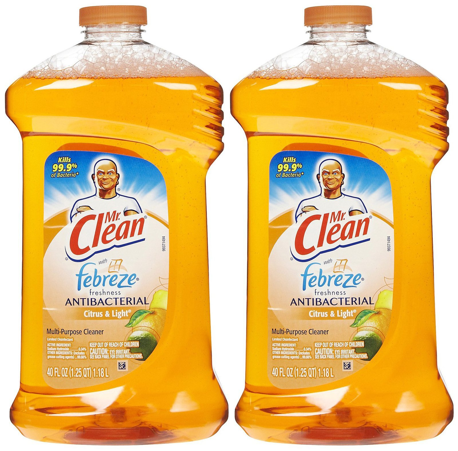 Mr. Clean with Febreze Freshness Antibacterial Liquid Cleaner - 40 oz - Citrus & Light - 2 pk