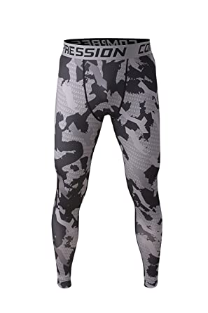 b77e714c1f3 Men's Workout Compression Tights Training Thermal Base Layer Pants Fitness  Gym Running Sport Performance Leggings SML XL
