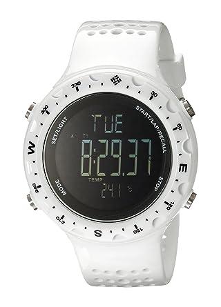 Columbia Mens CT004-100 Singletrak Digital Display Quartz White Watch