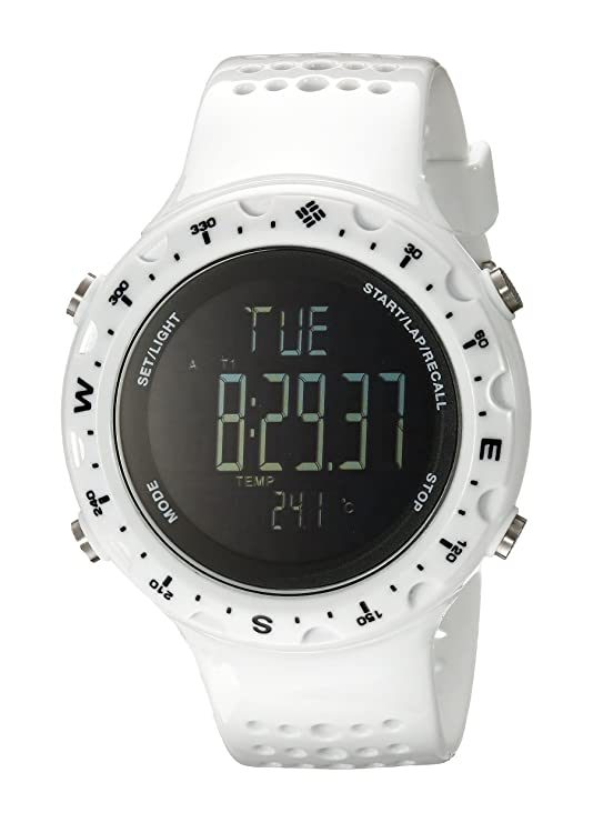 Amazon.com: Columbia Mens CT004-100 Singletrak Digital Display Quartz White Watch: Watches