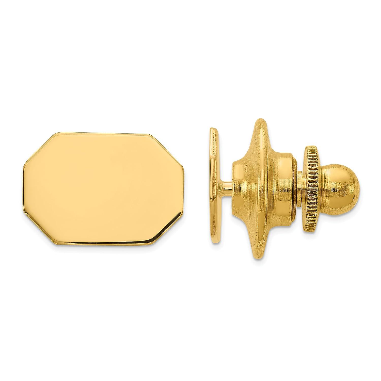 14k Yellow Gold Engravable Tie Tac