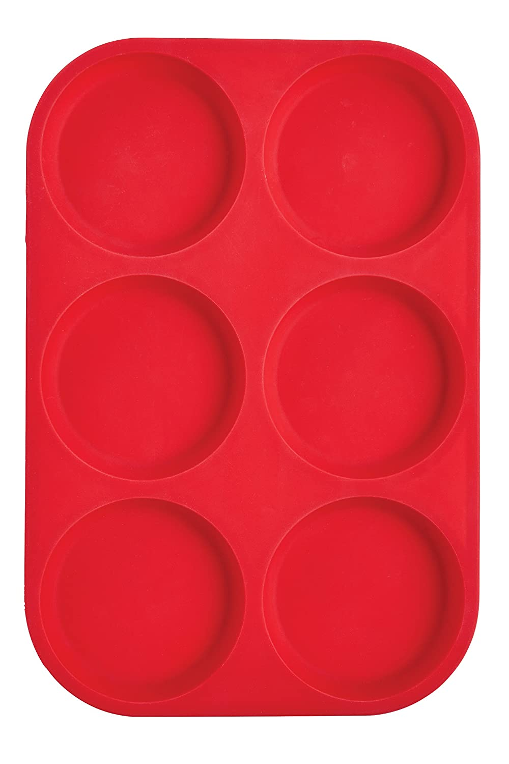 Mrs. Anderson's Baking 438176-Cup Muffin Top Pan, Non-Stick European-Grade Silicone