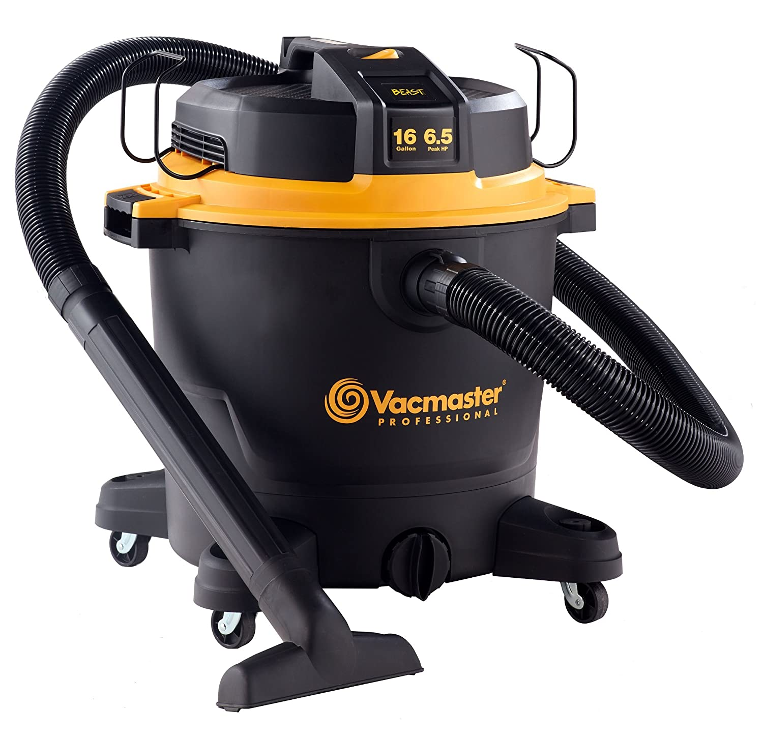 Vacmaster Professional – Professional Wet Dry Vac, 16 Gallon, Beast Series, 6.5 HP 2-1 2 Hose VJH1612PF0201