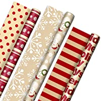 Hallmark Reversible Christmas Wrapping Paper (3 Rolls: 120 sq. ft. ttl)