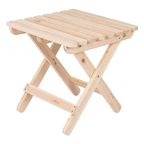 Superieur Amazon.com : Shine Company Adirondack Square Folding Table, Natural : Patio  Side Tables : Garden U0026 Outdoor