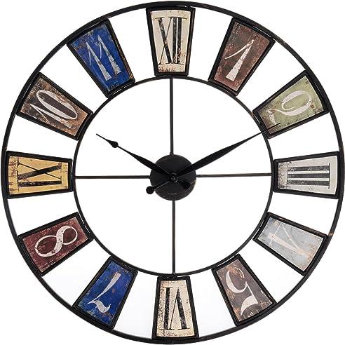 Große Wohnzimmer Wanduhr Xxl Metall Ø 60Cm Riesen Vintage Uhr Für