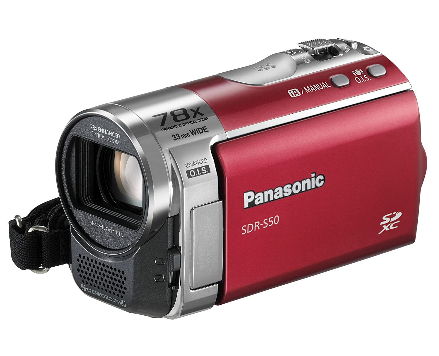 Panasonic sdr-s50 (black) standard-definition camcorder with 78x.
