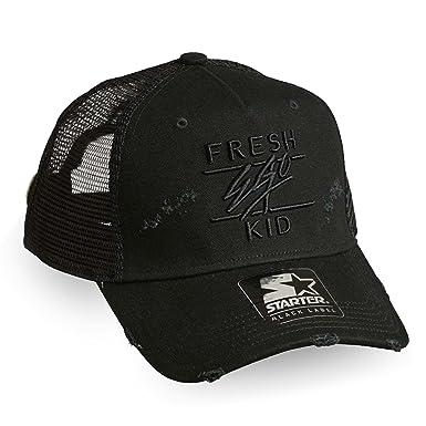ec90187c569 Fresh Ego Kid | S056 Ripped Distressed Trucker Cap - Black One Size Black