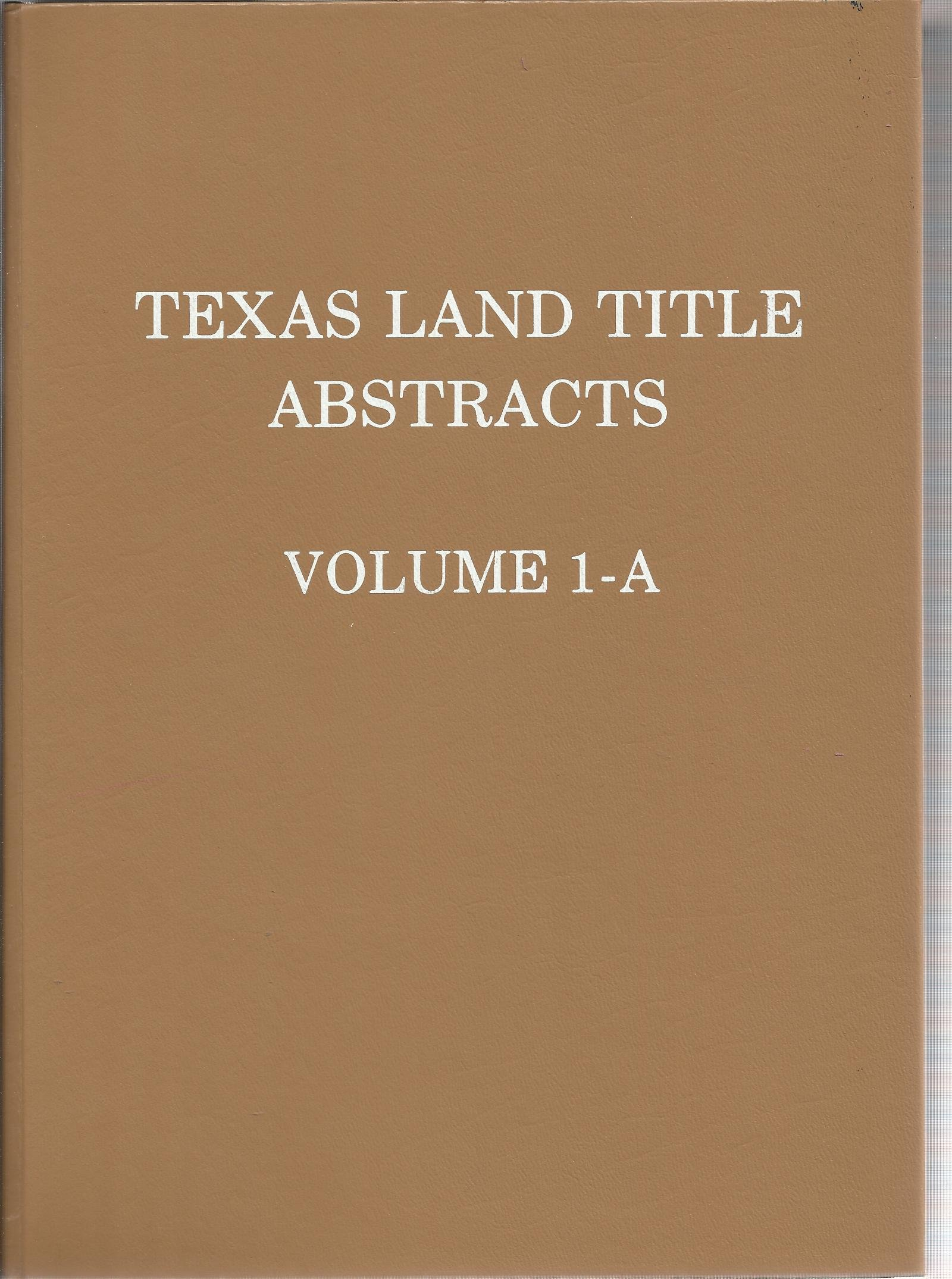 Texas Land Title Abstracts
