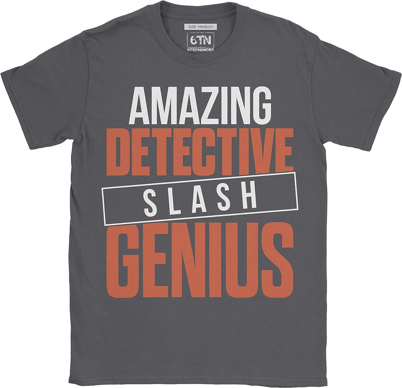 6TN Hombre Funny Amazing Detective Slash Genius Camiseta