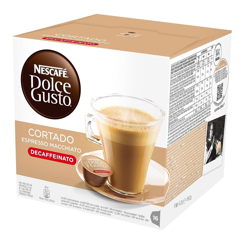 Nescafé Dolce Gusto Espresso Cortado Descafeinado, 16 Cápsulas: Amazon.es: Alimentación y bebidas