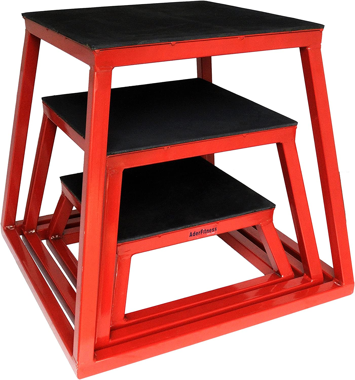 Plyometric Platform Box Set- 6, 12, 18 Red