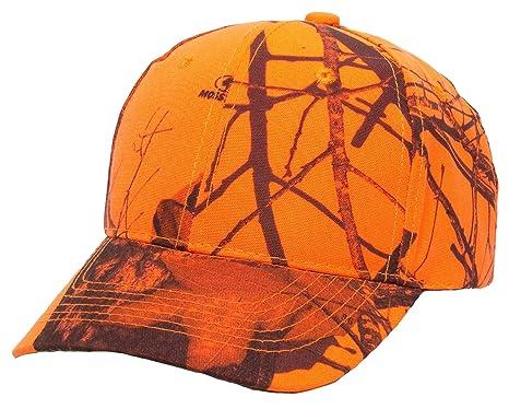 CTM Men s Mossy Oak Break Up Blaze Orange Baseball Hat 1139ba74cd9