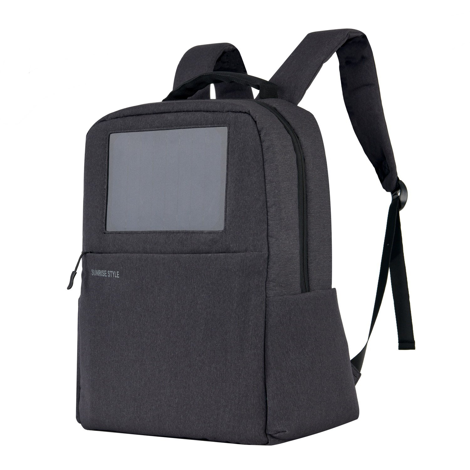 Sunrise Solar Backpack with Built-in Solar Panel and a 4000mAh Power Bank to Charge Smart Phones, Consumer Electronics, an Awesome Pocket for 15.6-Inch Laptop by SunRise