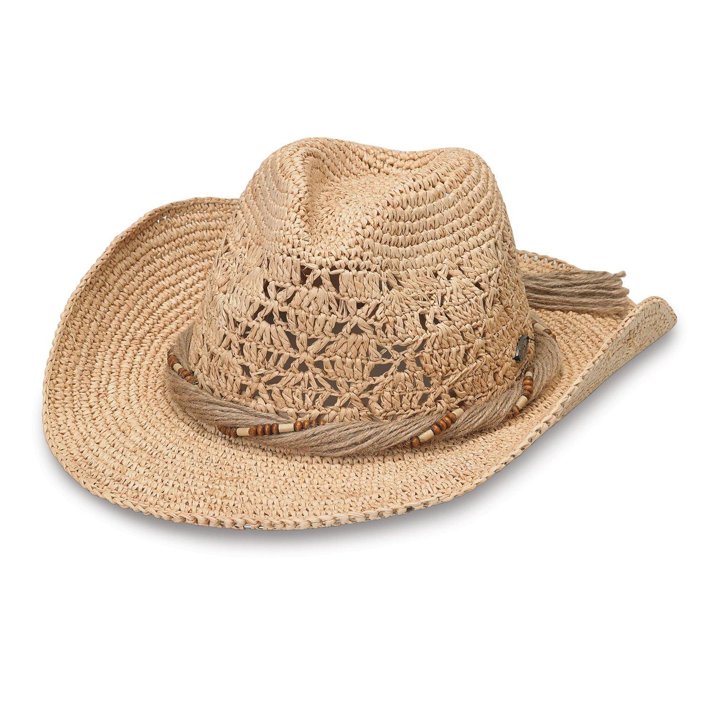 Wallaroo Hat Company Women's Tina Cowboy Hat - Raffia, Modern Cowboy, Designed in Australia, Natural