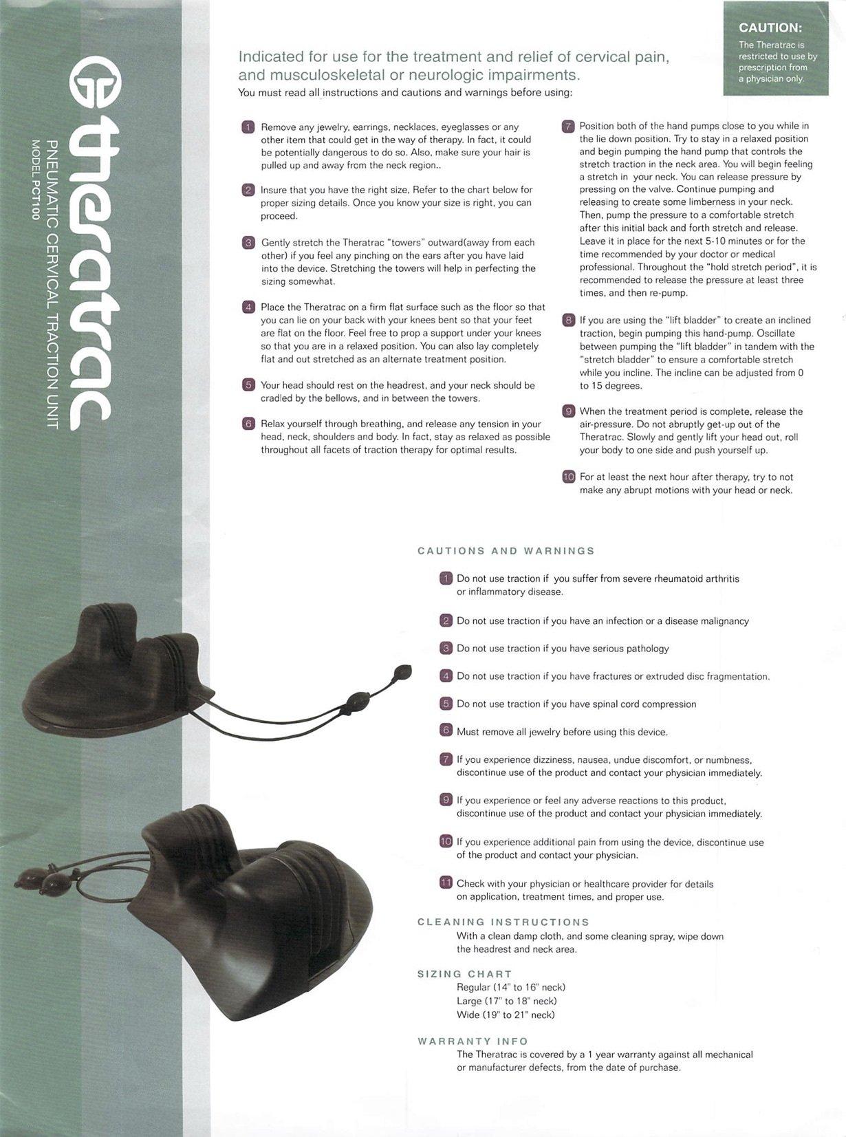 Pain Management Technology PMT-PCT100-L Theratrac Cervical Traction Device - Size 2 - Large - 17'' -18'' neck