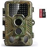 """COOLIFE Cámara de Caza 16MP 1080P HD Trail Cámara con Visión Nocturna Impermeable IP56 con PIR Infrarrojo Sensor de Movimiento 46 Pcs IR Leds de 2.4"""" LCD con 32G Tarjeta Micro SD"""