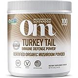 Om Organic Mushroom Superfood Powder, Turkey Tail (100 Servings), Immune Support, Gut Health & Holistic Defense…