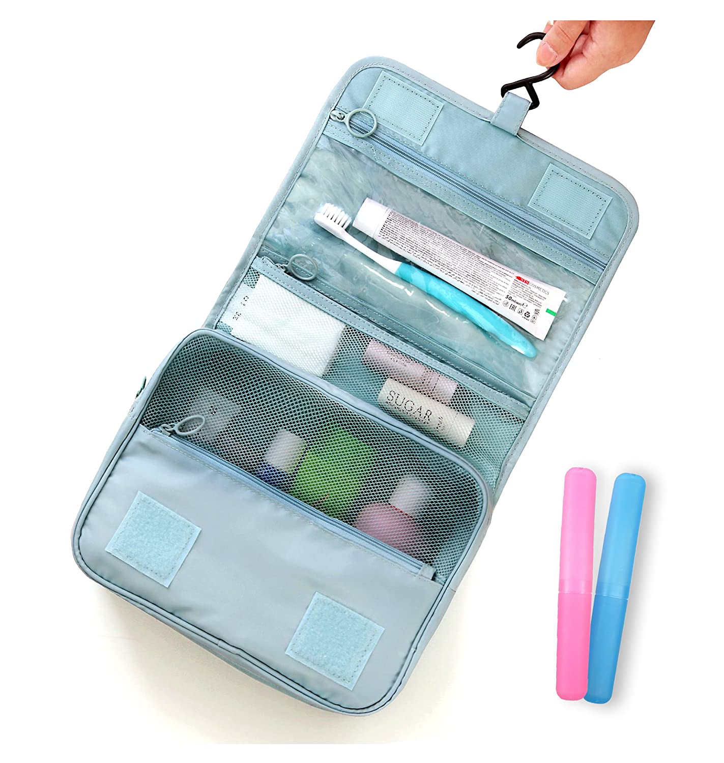c169bd1e6999 85%OFF SBYURE Hanging Toiletry Bag Organizer for Cosmetics