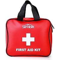 Simbr Erste Hilfe Set mit Rettungsdecke, Alkoholkompresse, Eisbeutel 121-Teilig für Zuhause, Reise, Campingplatz