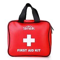 SIMBR Botiquín de Primeros Auxilios con 121 Artículos para Emergencia al Aire Libre Adecuado a Casa y Viaje con Certificación de CE/FDA / RoHS