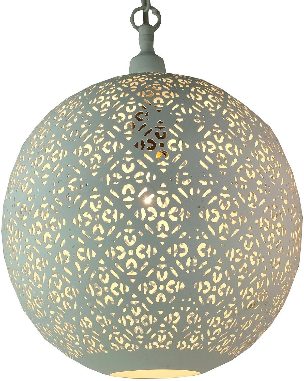 Guru-Shop Lámpara de Techo de Metal Blanco en Diseño ...