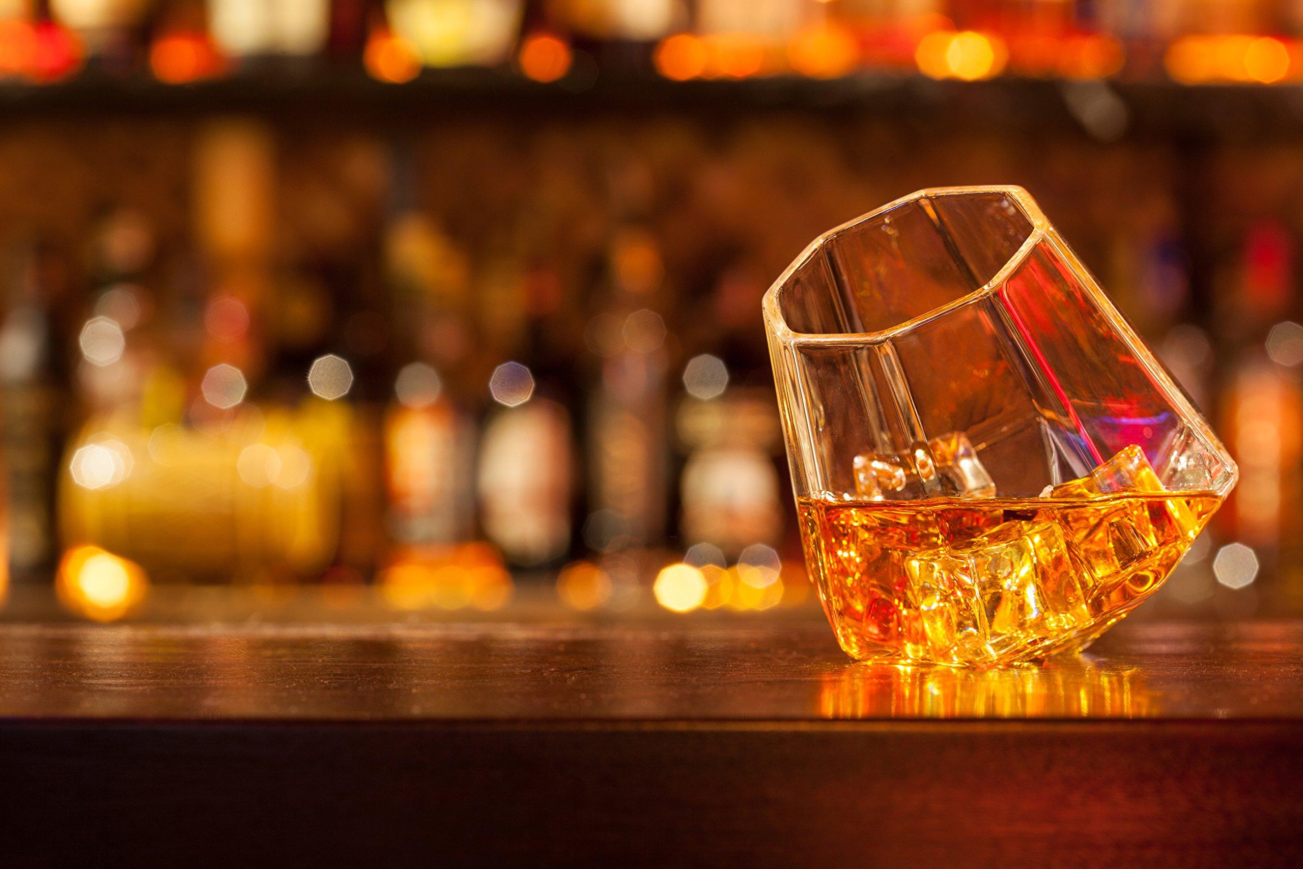 Dragon Glassware Diamond Whiskey Glasses, Premium Designer Tumblers for Spirits and Wine, 10-Ounces, Gift Boxed - Set of 4 by Dragon Glassware (Image #4)