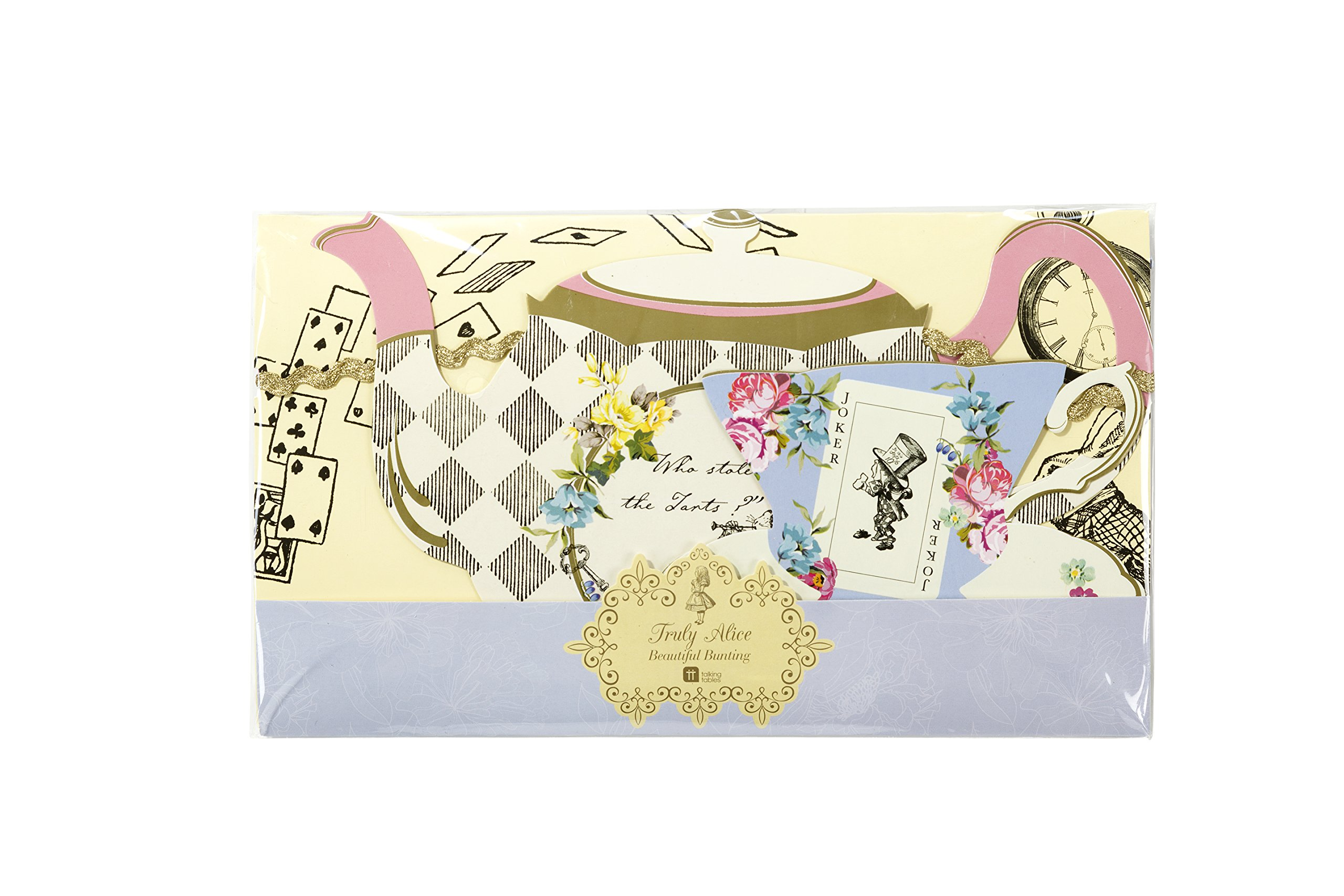 Talking Tables Alice In Wonderland Bunting Mad Hatter Tea Party Length 4M, 13ft by Talking Tables