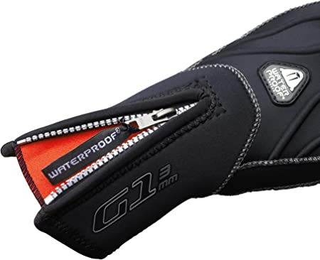 Amazon.com: Impermeable 5 mm G1 5 dedo Guante: Sports & Outdoors