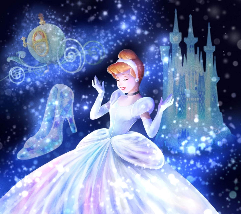 ディズニー 魔法の光に包まれて(シンデレラ)  HD(1440×1280)スマホ 壁紙・待ち受け