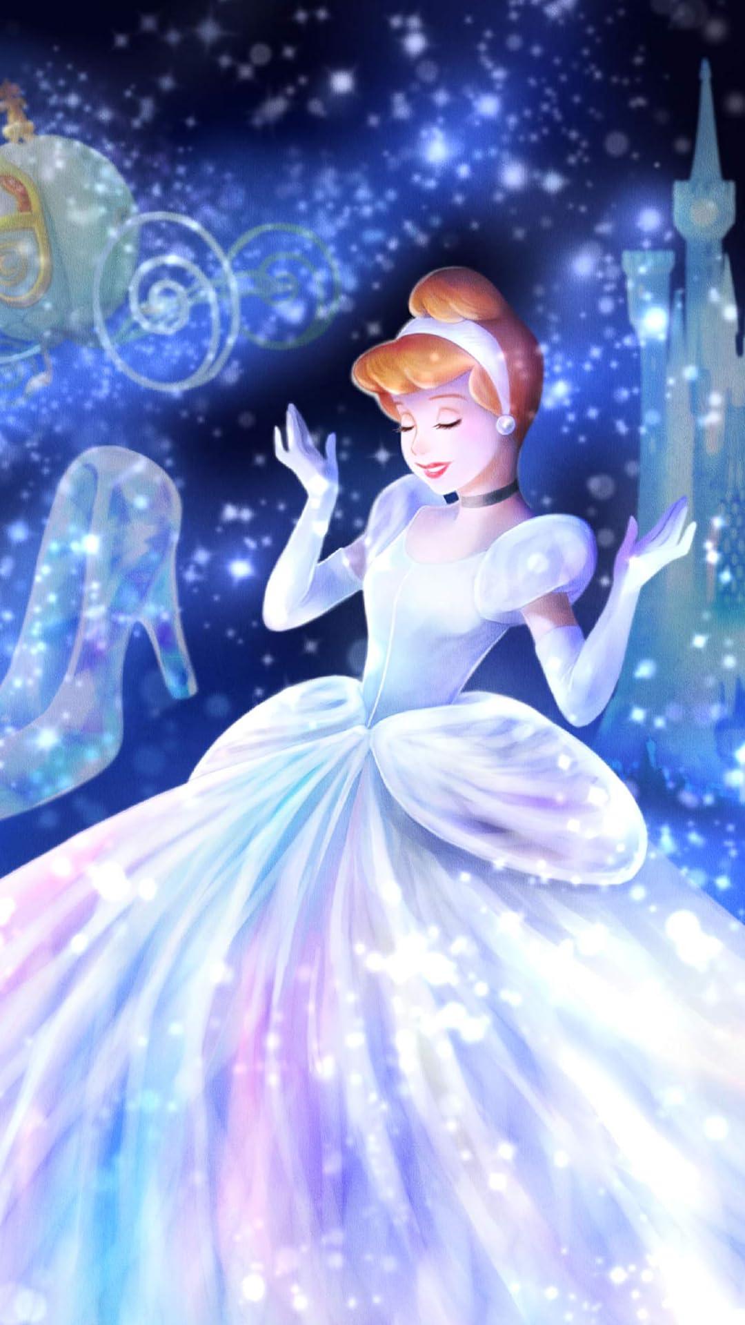 ディズニー フルhd10801920スマホ壁紙待受 魔法の光に包まれて