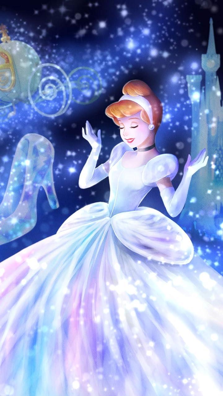 ディズニー 魔法の光に包まれて(シンデレラ)  HD(720×1280)壁紙画像