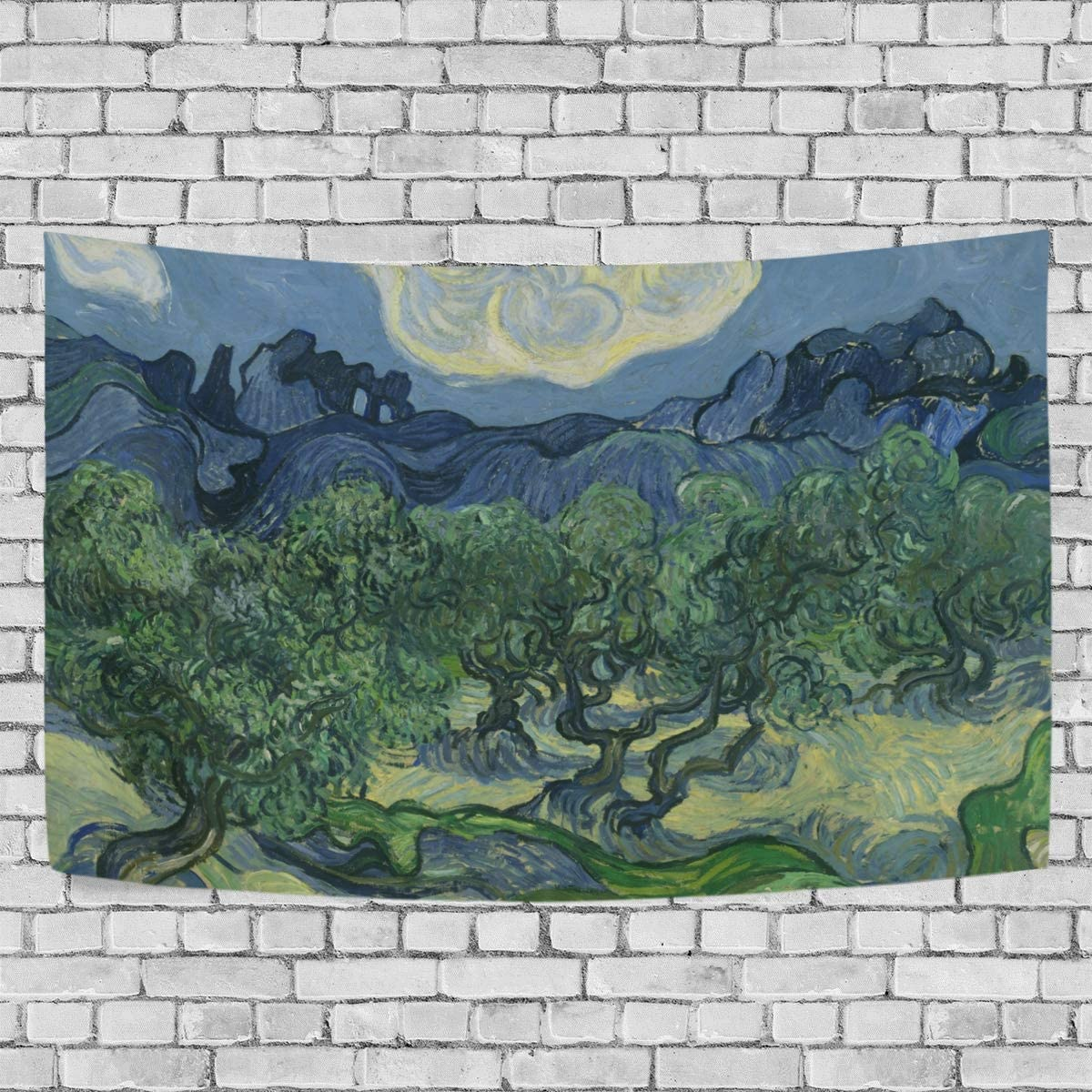 Tapestry Wall Hanging Van Gogh Pattern Wall Blanket for Wall Art Large Tapestry Decor for Living Room and Bedroom 90 x 60 Inches