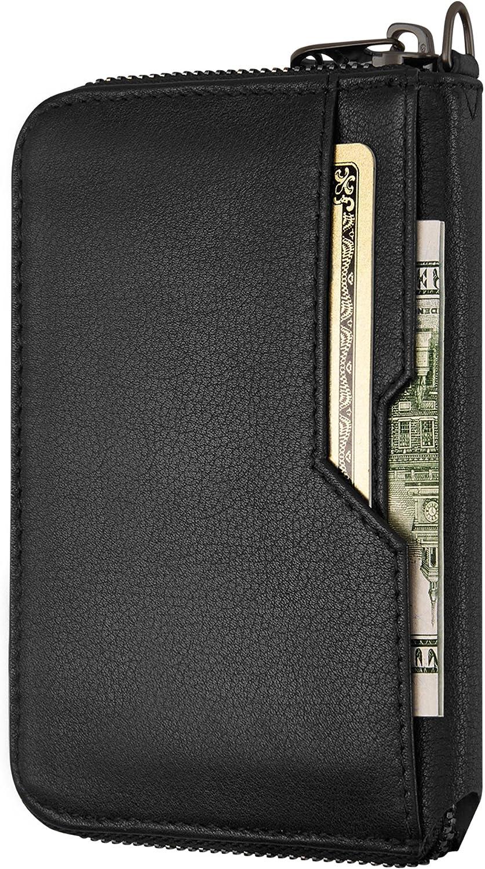 3 RFID 3 nota slot MONETA Pull-Up REAL LEATHER Bi-fold Men/'s Portafoglio Con ID scheda