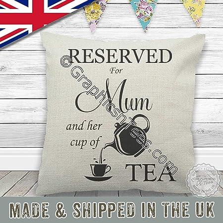 Gráficos n Tees - reservado para mamá y taza de té cojín ...