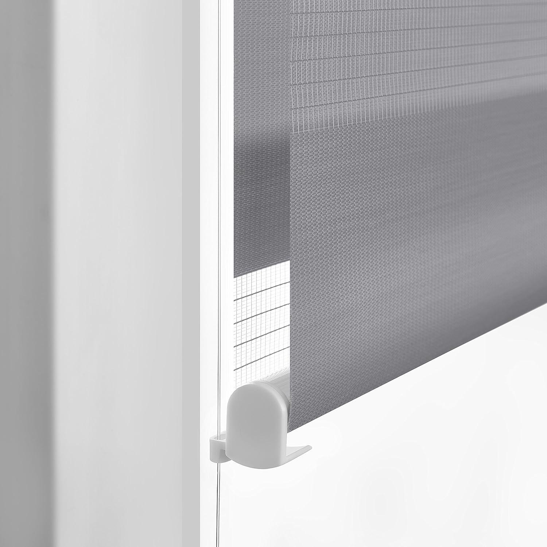 grau Vidella Doppelrollo zebra Fenstermontage 83 cm ZZ-12 83