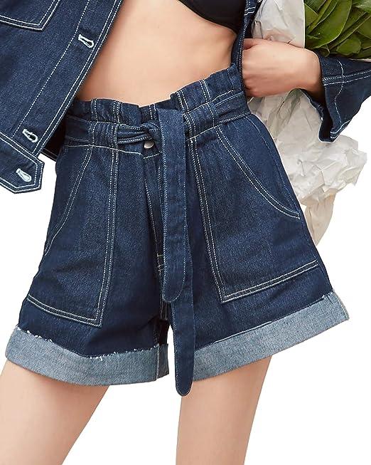 9b6dfc2e02 Zara Women Denim Bermuda Shorts with Belt 4979/028 at Amazon Women's  Clothing store: