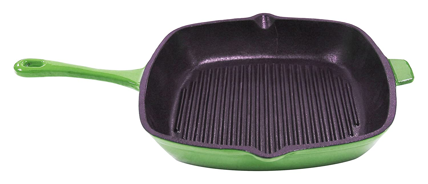 BergHOFF 2211297A Neo 11-Inch Cast Iron Grill Pan, Green