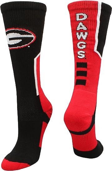 TCK University of Georgia Bulldogs Woodland Camo Crew Socks