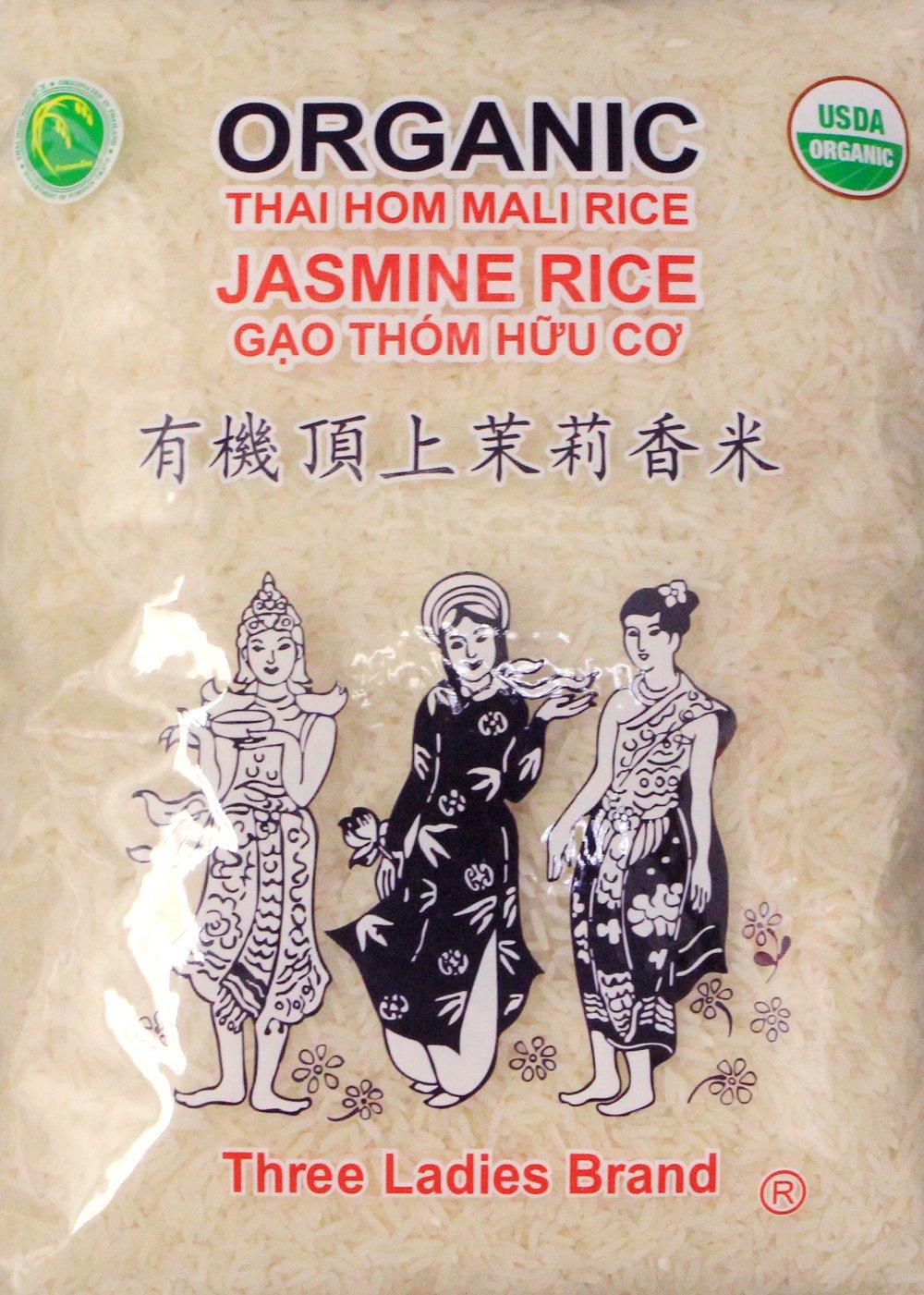 有機頂上茉莉香米USDA organic Three Ladies Thai Jasmine Rice Long Grain 5 lbs