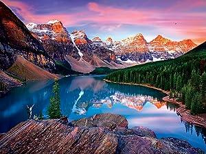 "Buffalo Games - Mountains on Fire - 750 Piece Jigsaw Puzzle, Orange, Green, Black, Blue, 24""L X 18""W"
