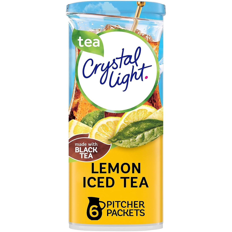 Crystal Light Lemon Iced Tea Drink Mix (72 Pitcher Packets, 12 Packs of 6)
