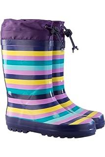 Mountain Warehouse Rainbow Bottes de Pluie Caoutchouc Enfants Fille Garçon Imperméable Arc en Ciel