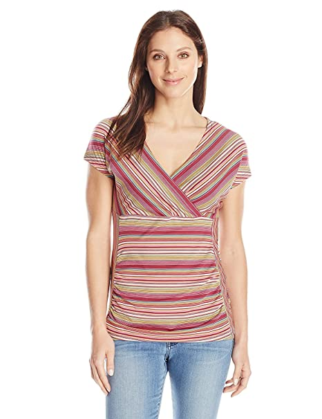 d6969d9dc88b6 Buy Royal Robbins Women s Essential Tencel Stripe Short Sleeve Shirt Online  at Low Prices in India - Amazon.in